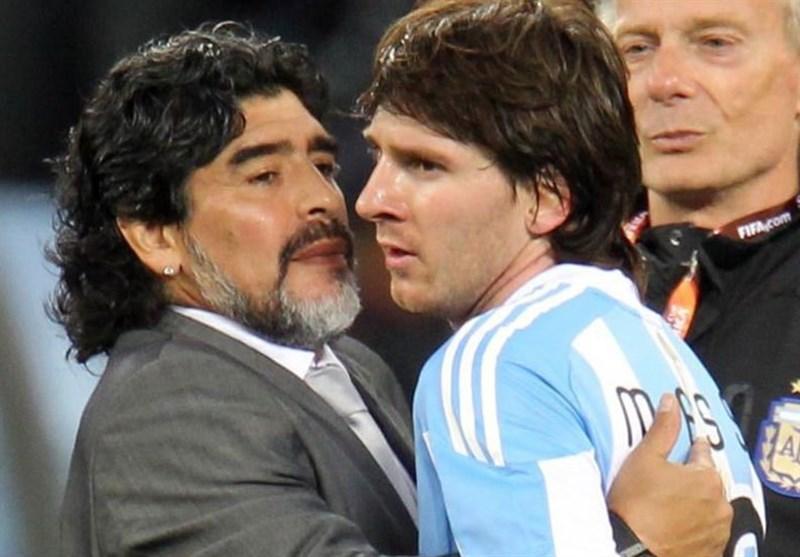 مارادونا: امیدوارم مسی مقابل ناپولی شب خوبی نداشته باشد!